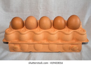 Eggs on tray