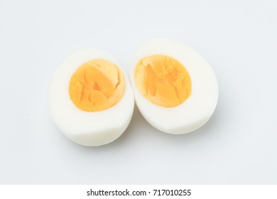 The eggs are placed on a white background
