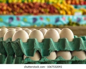 Eggs for sale on Market in Brazil
