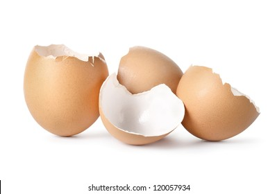 Eggs shell isolated on a white background