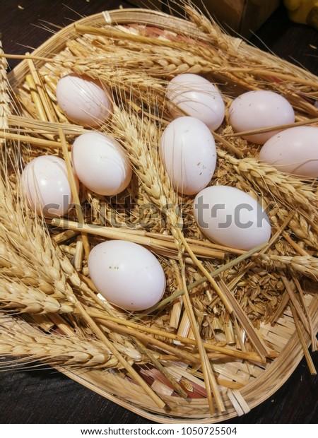 Eggs and wheat ears