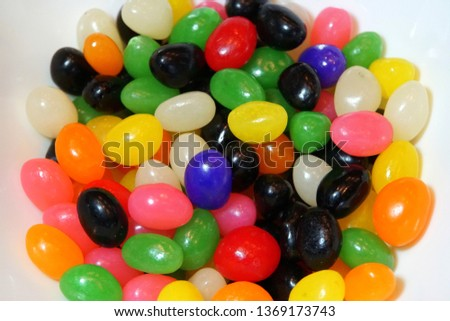 231e524b Eggshaped Jelly Beans Candies On White Stock Photo (Edit Now ...