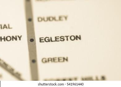 Egleston Station. Boston Metro map.