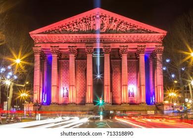 Eglise de la Madeleine, one of most famous churches of Paris, France.