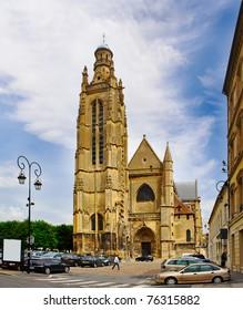 Eglise paroissiale Saint-Jean-Baptiste of Compiegne, Oise, Picardie, France, UNESCO - the Pilgrim's Road to Santiago de Compostela