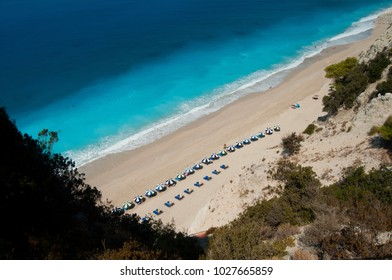 The Egremni beach, on the Lefkada island, Greece