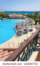 EGYPT, 13 SEPT 2012. Hotel Dessole Pyramisa Beach Resort Sahl Hasheesh 5 * - a luxury resort area of 120 000 sq. m on the Red Sea