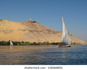 Egypt Aswan Sailing boats