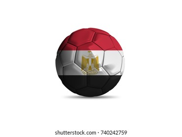 Egypt ball Flag, High quality render of 3D football ball