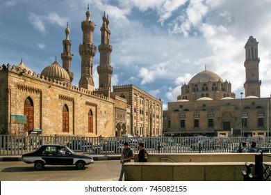 EGYPT, CAIRO - APRIL 9, 2007: Al Azhar mosque and religious university, Nafak Al Azhar street