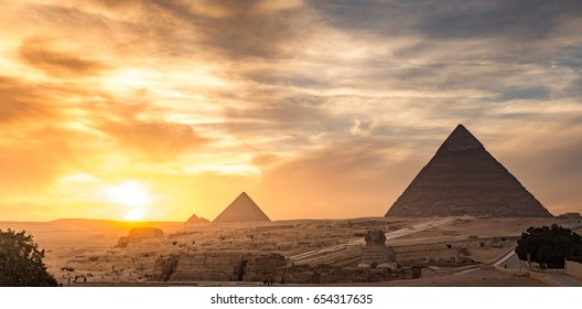 Egypt. Cairo - Giza. General view of pyramids