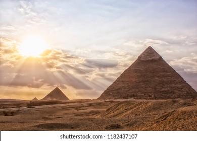 Egypt. Cairo - Great Pyramids of Giza