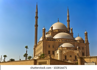 Egypt. Cairo. The Saladin Citadel - the Mosque of Muhammad Ali (or Mohamed Ali Pasha, also known as the Alabaster Mosque)