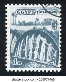 EGYPT - CIRCA 1978: stamp printed by Egypt, shows Water Wheels, Fayum, circa 1978