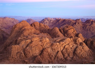 Egypt. Dawn landscapes in the area of Mount Moses