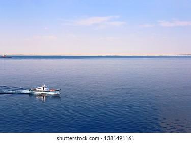 Egypt desert, Gulf of Suez, ship, boat