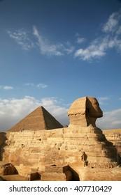 Egypt, Giza, pyramids.