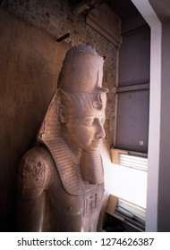 Egypt, Memphis, Statue of Colossus of Ramesses II