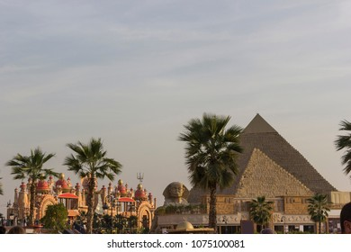 Egypt pavilion at Global Village in Dubai, UAE, The Global Village is claimed to be the world's largest tourism, leisure and entertainment project.