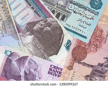 Egypt pounds variety. Egyptian money currency. Egypt economy and investment