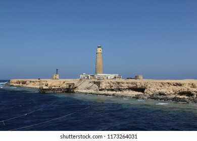 Egypt, Red Sea: The lighthouse of Big Brother Island