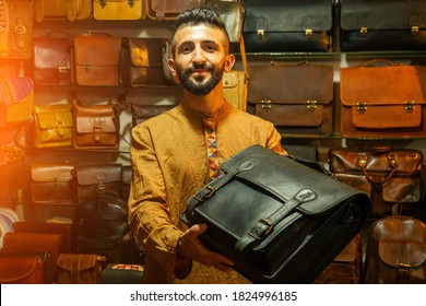 egypt sallerman showing his bags