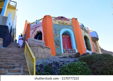 Egypt-Aswan / 15/3/2016 / the colorful houses of nubian Egyptians