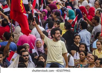 Egyptian Activist Protesting Against Morsy - Alexandria, Sidi Gaber, Egypt 30 June 2013