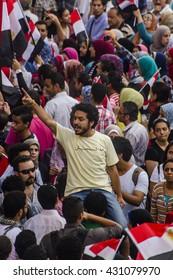 Egyptian Activist Protesting Against Muslim Brotherhood - Alexandria, Sidi Gaber, Egypt 30 June 2013
