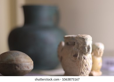 Egyptian artefacts with pot