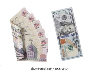 Egyptian Banknotes, Egyptian Pounds, US Dollars