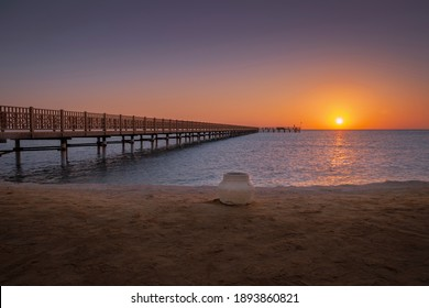 egyptian beach in the morning at sunrise