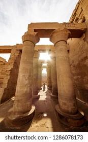 Egyptian civilization temple of Kom Ombo known as Krokodilopolis near Aswan on the river Nile