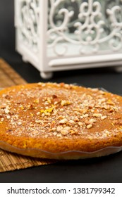 Egyptian dessert kunafa for ramadan