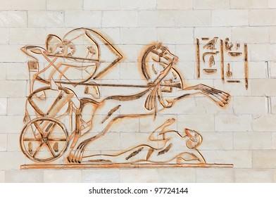 Egyptian fresco at the WAFI mall in Dubai, United Arab Emirates