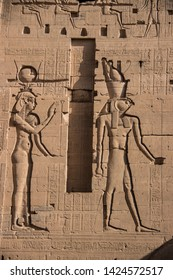 Egyptian hieroglyphics in ancient temples