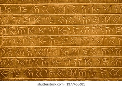 Egyptian hieroglyphics texture, background image. Picture writing wallpaper.