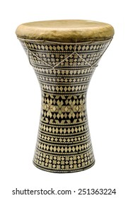 Egyptian musical instrument, isolated