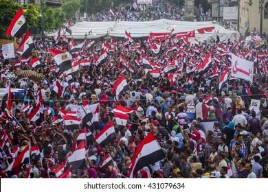 Egyptian People Protesting Against Muslim Brotherhood - Alexandria, Sidi Gaber, Egypt 30 June 2013