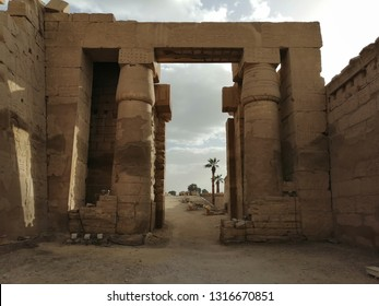 Egyptian Pharaoh's temples and wall writings