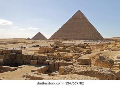 Egyptian Pyramids at Giza Plateau UNESCO World Heritage Site