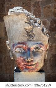 Egyptian Queen Hatshepsut,The temple of Hatshepsut near Luxor in Egypt