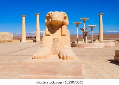 Egyptian ruins near the Ouarzazate  city in Morocco