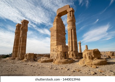 Egyptian Soleb Temple in the Nubian area of the Sudan