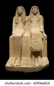 Egyptian Statue of a couple From El Medina. New Kingdom, 19th Dynasty (1292-1186 BC)
