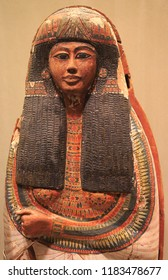 Egyptian wooden  painted sarcophagus