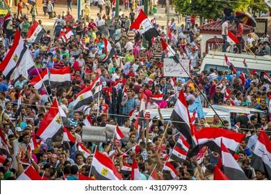 Egyptian Youth Protesting Against Muslim Brotherhood - Alexandria, Sidi Gaber,  Egypt 30 June 2013