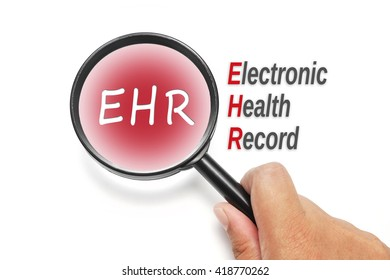 EHR, acronyms health concept