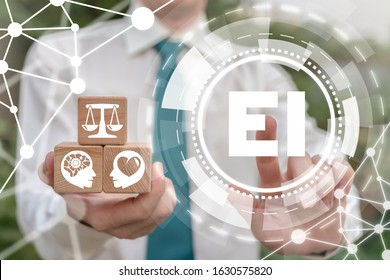 EI Emotional Intelligence People Think Different Method Business Creative Work Concept. - Shutterstock ID 1630575820