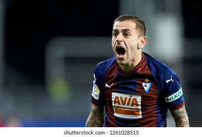 Eibar, northern Spain, Saturday, December, 15, 2018. Ruben Pena during the Spanish La Liga soccer match between S.D Eibar and Valencia C.F at Ipurua stadium.